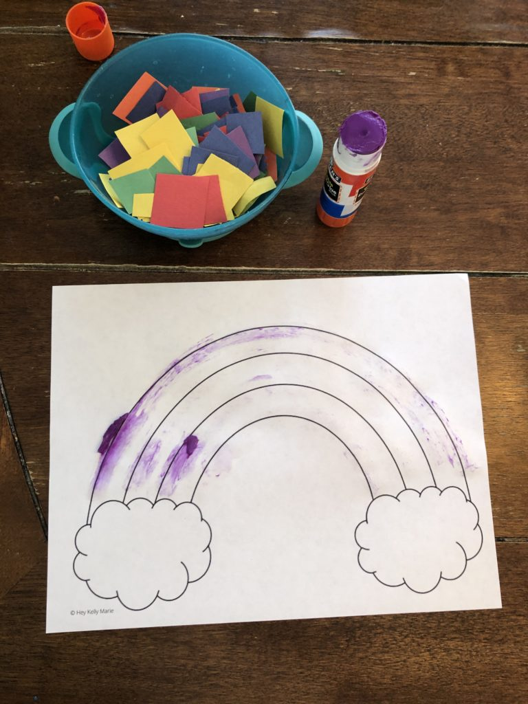 Supplies needed for fun and easy rainbow craft