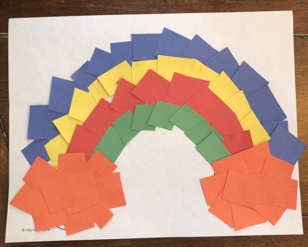 Image of finished fun and easy rainbow craft