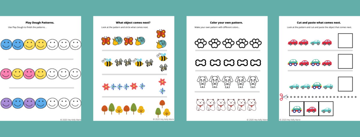 patterns workbook for learning at home