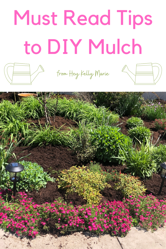 pinterest pin describing must know tips for laying mulch