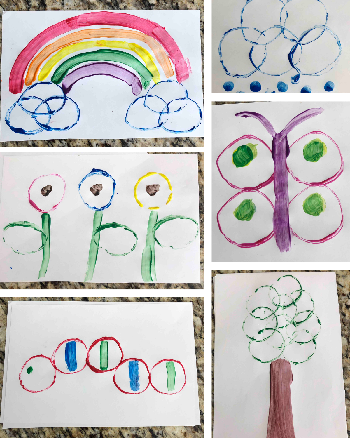 Spring aintings you can create with toilet paper rolls