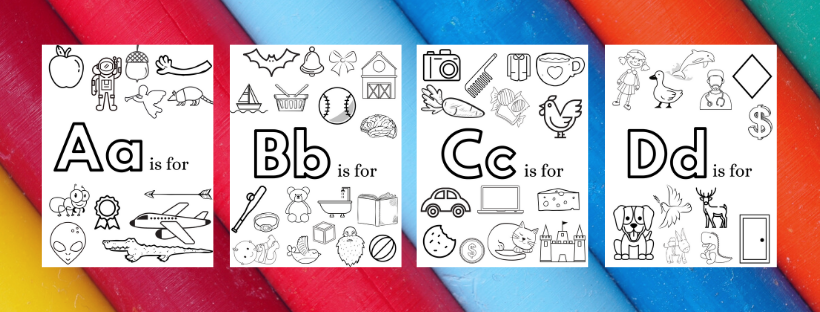 alphabet coloring pages preview