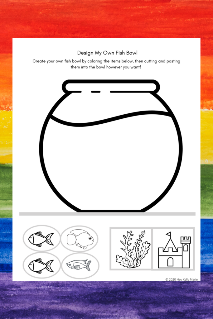 preview of design my own fish bowl activity