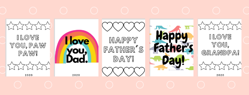 preview of father's day printable cards