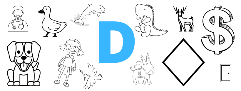 Images that show items that are show and tell ideas that start with d