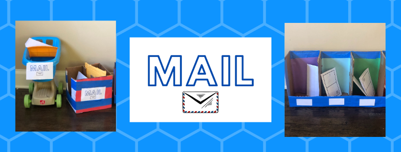 Pictures of post office dramatic play center and printable Mail graphics
