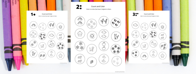 preview of image of learn to count coloring pages
