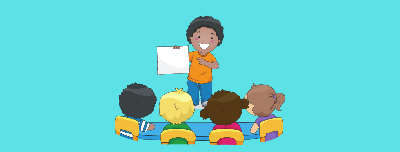 image showing kids participating in show and tell