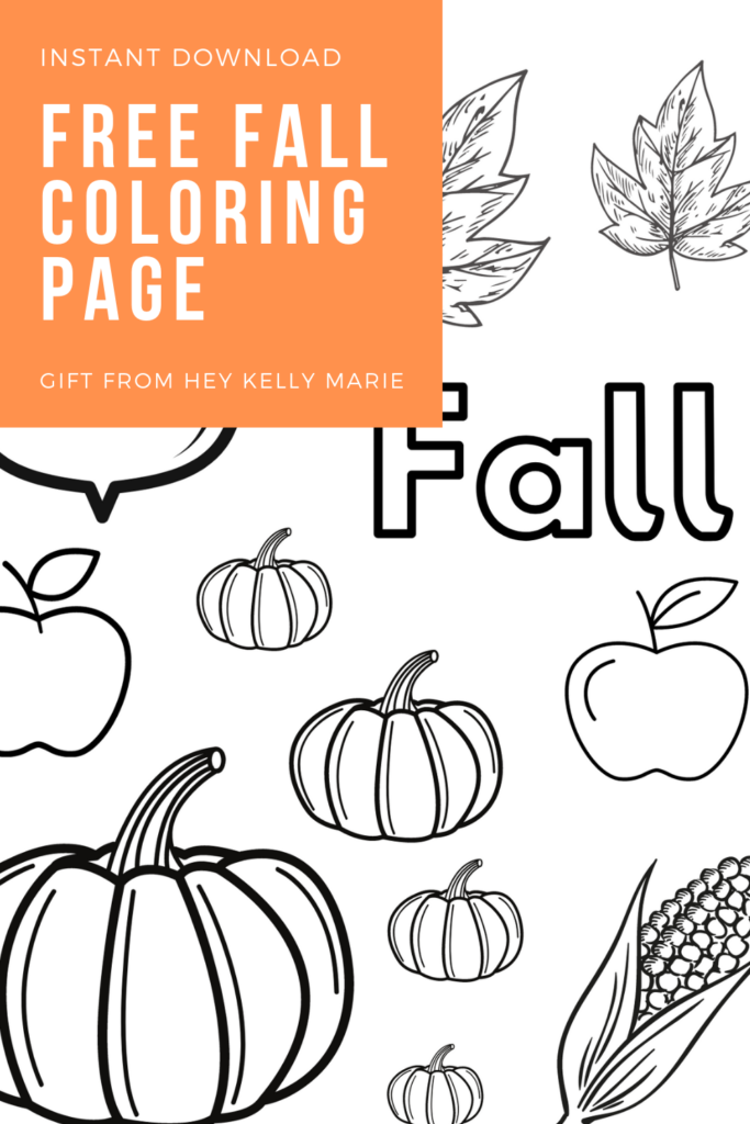 pinterest pin for free fall coloring page