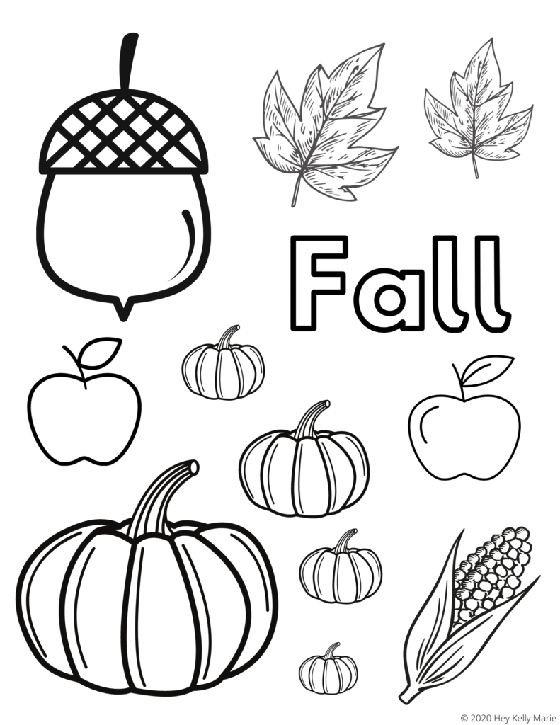 free fall coloring page from hey kelly marie