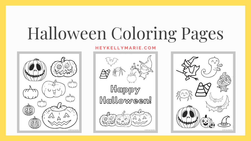 image where readers can download halloween coloring pages and preview images