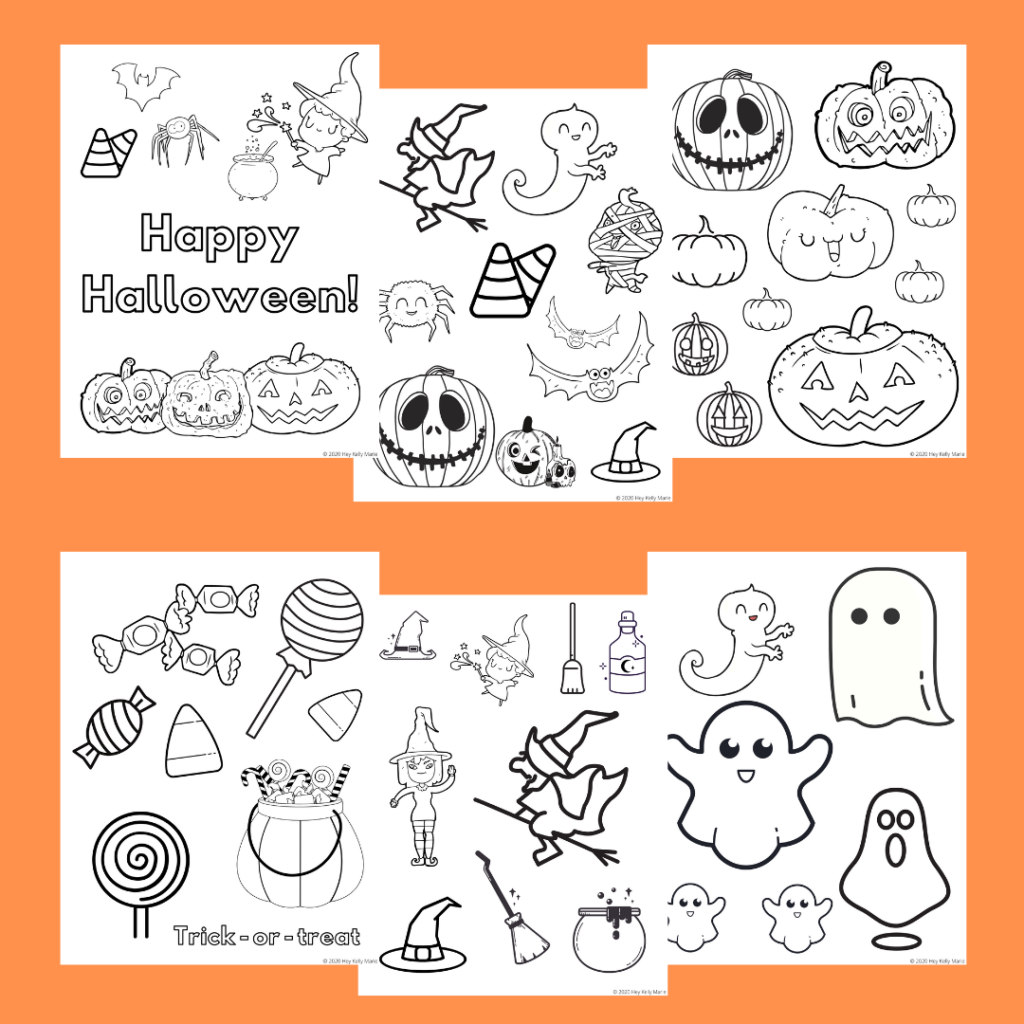 halloween coloring pages preview free printable