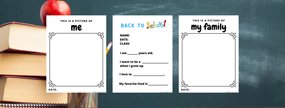 preview of back to school printable pages