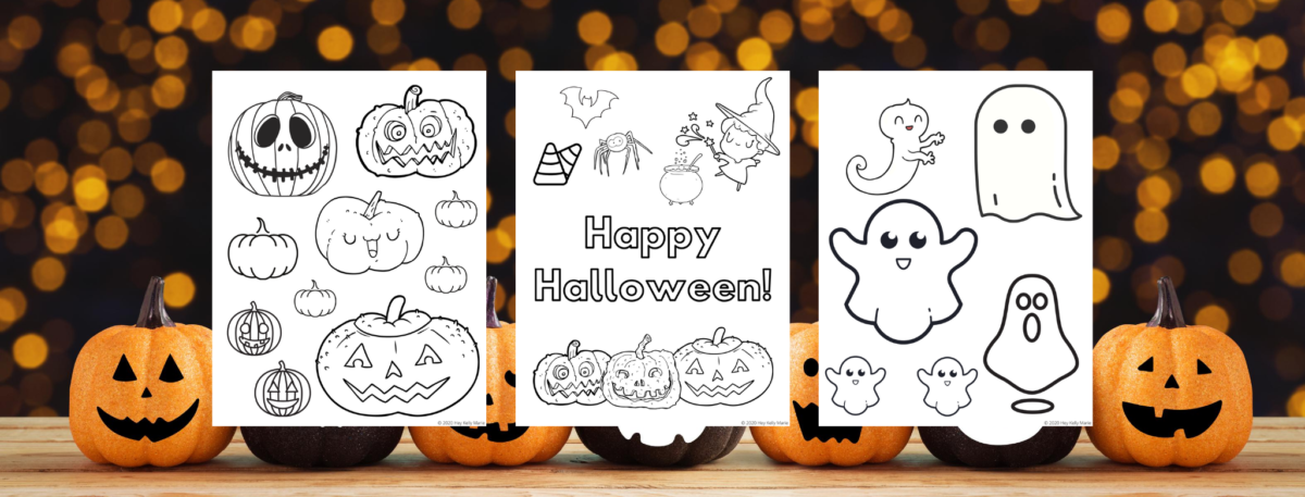 preview of free printable halloween coloring pages