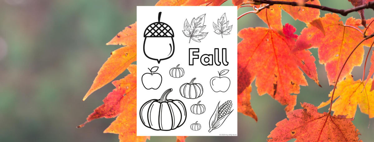 preview of free printable fall coloring page