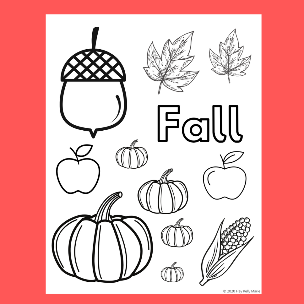 preview image of fall coloring page