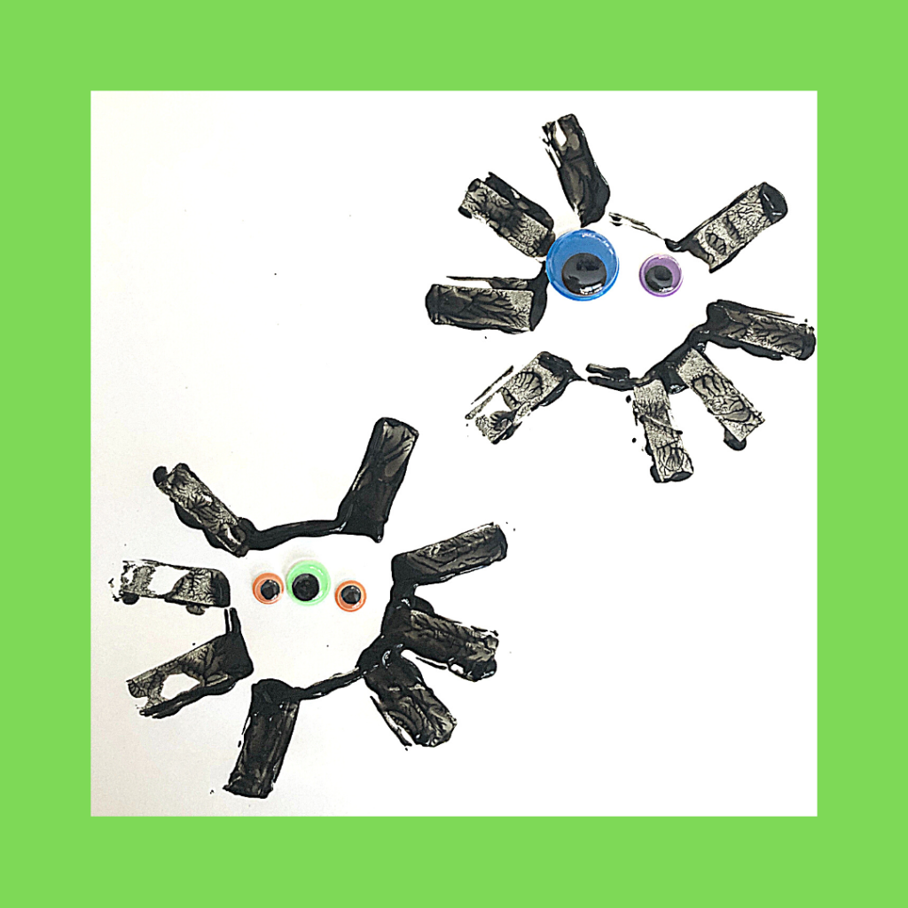 preview of toilet paper roll spider halloween craft