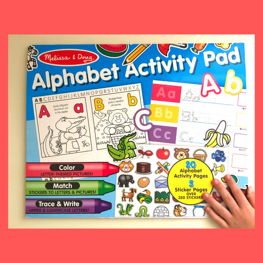 preview of alphabet activity pad by Melissa and doug bargain preschool workbook
