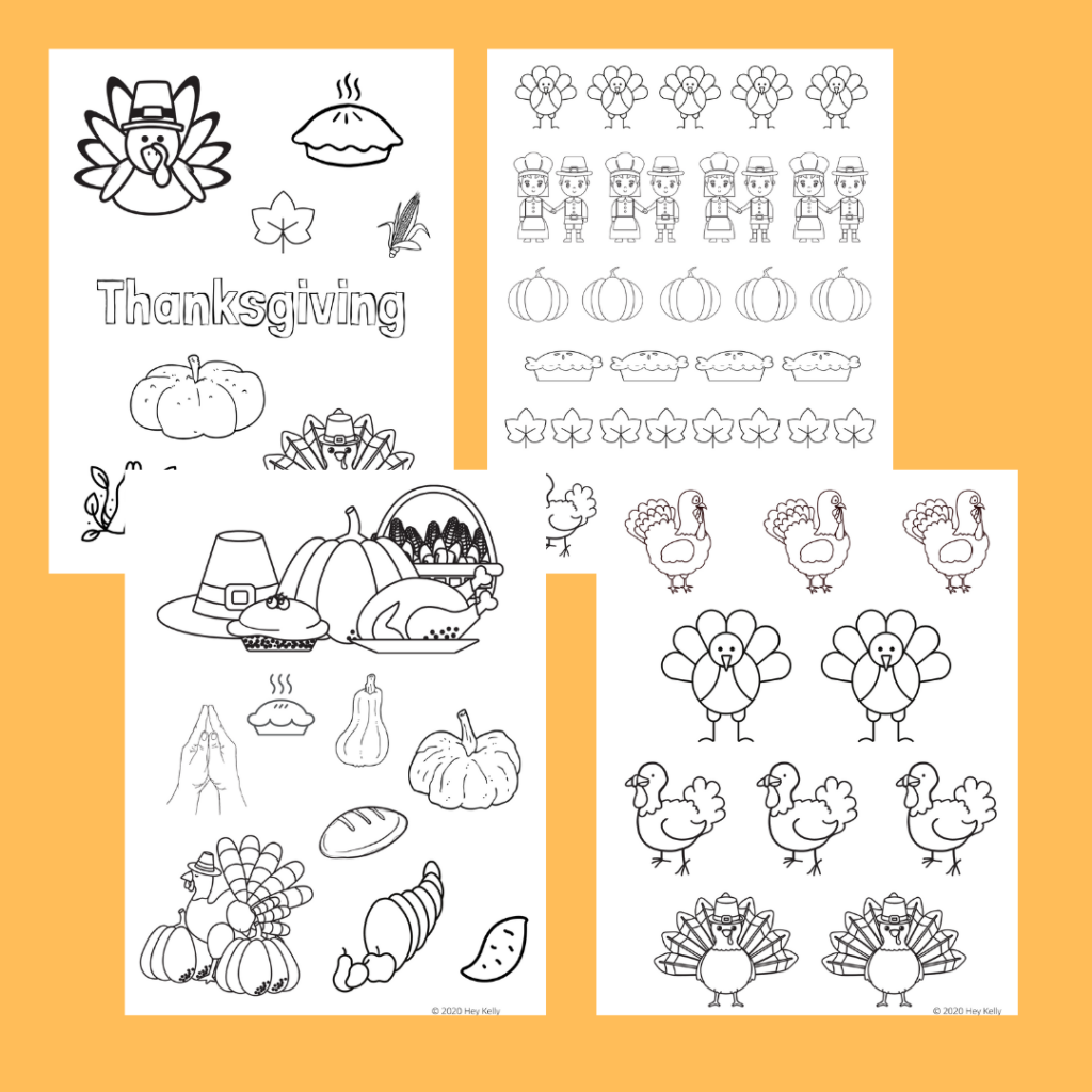 preview of thanksgiving coloring pages