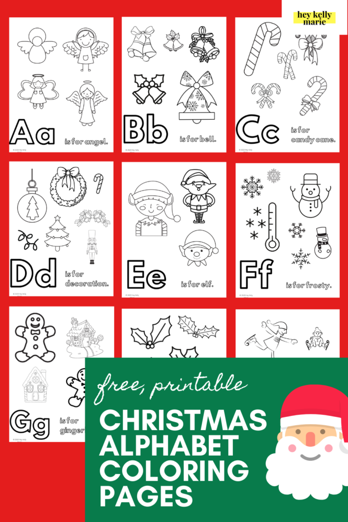 free printable christmas alphabet coloring pages pinterest pin