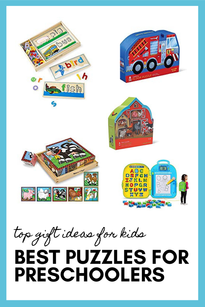 Best Puzzles for Preschoolers as part of the best toys for preschoolers pin