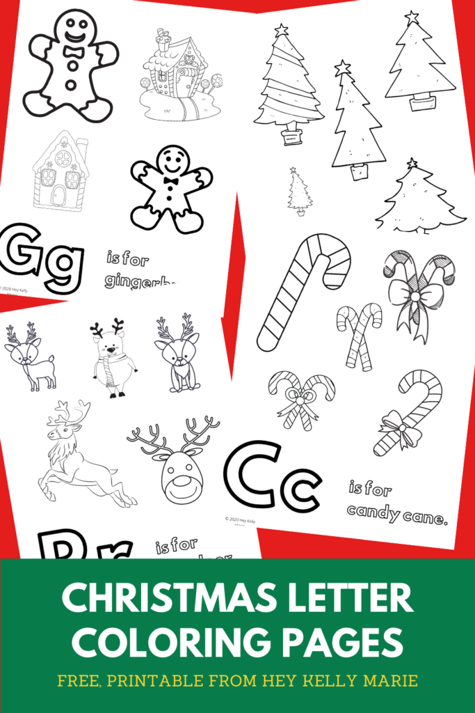 preview of christmas alphabet coloring pages