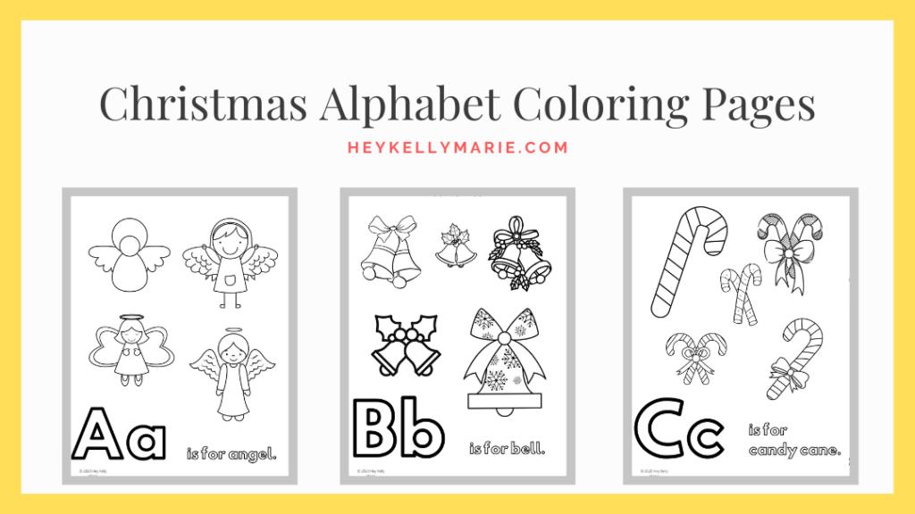 image of pdf download of christmas alphabet coloring pages
