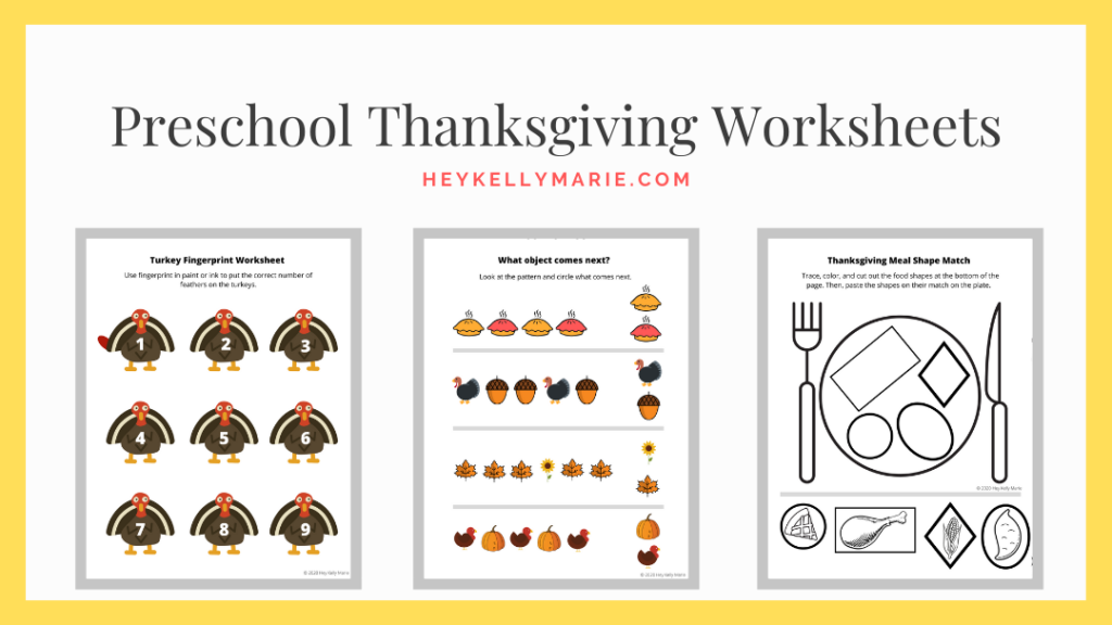 image to download the preschool thanksgiving worksheets pdf file