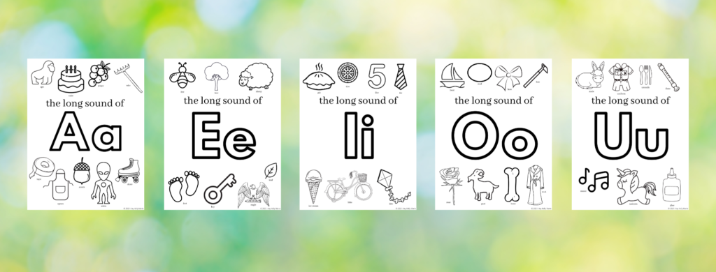 preview of long vowel sounds coloring pages