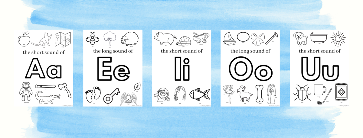 preview pictures of pdf vowel coloring pages