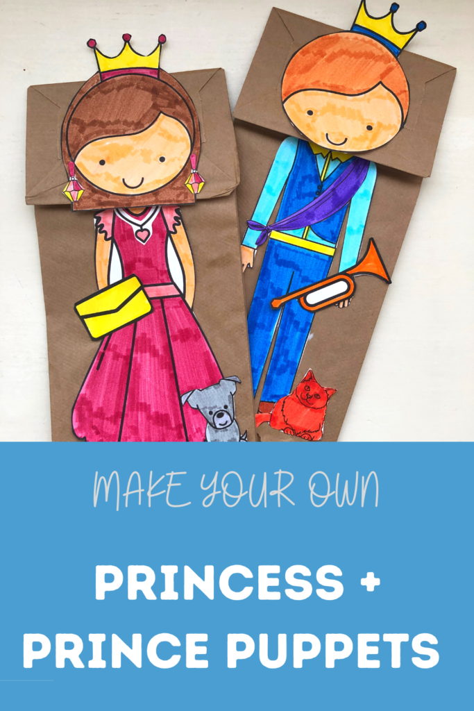 pinterest pin make your own princess and prince puppets