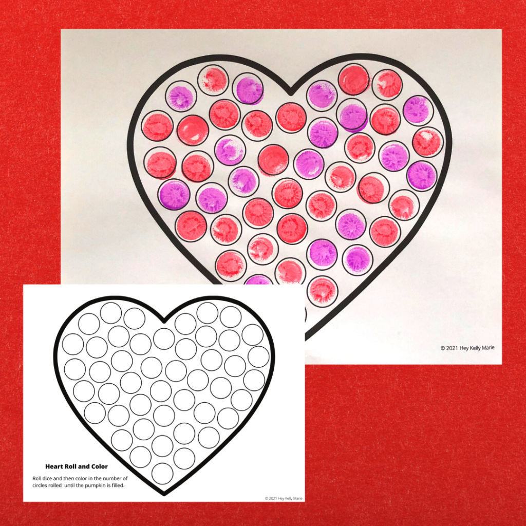 preview of the heart roll and color activity