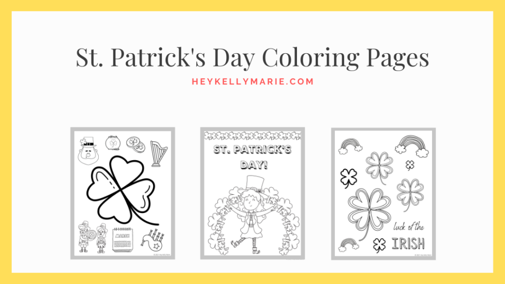 click here for st. patrick's day coloring sheets