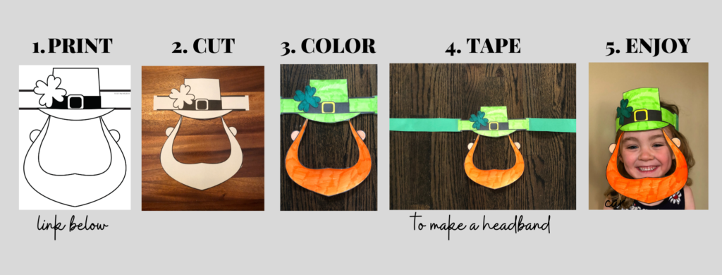 directions to make your own leprechaun mask
