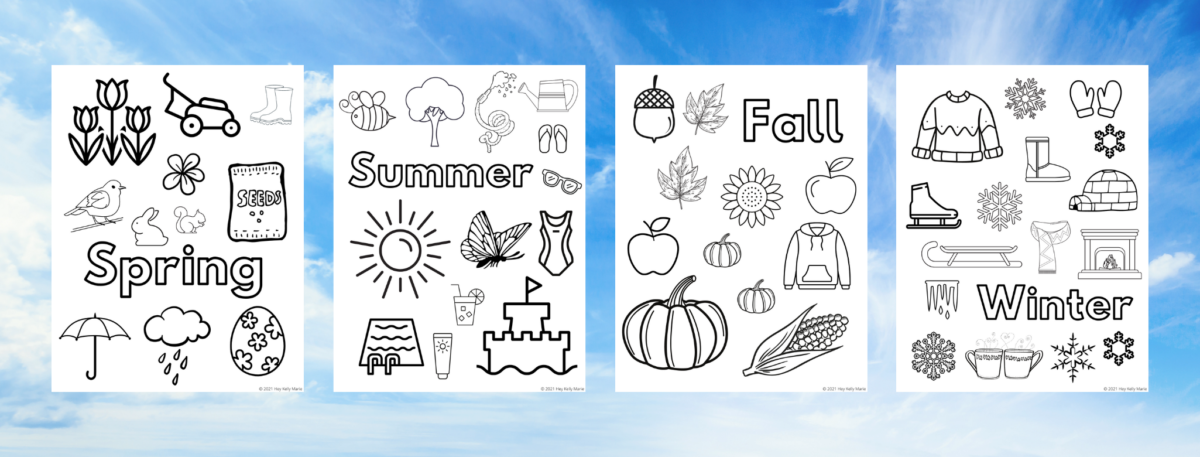 preview of seasons coloring pages
