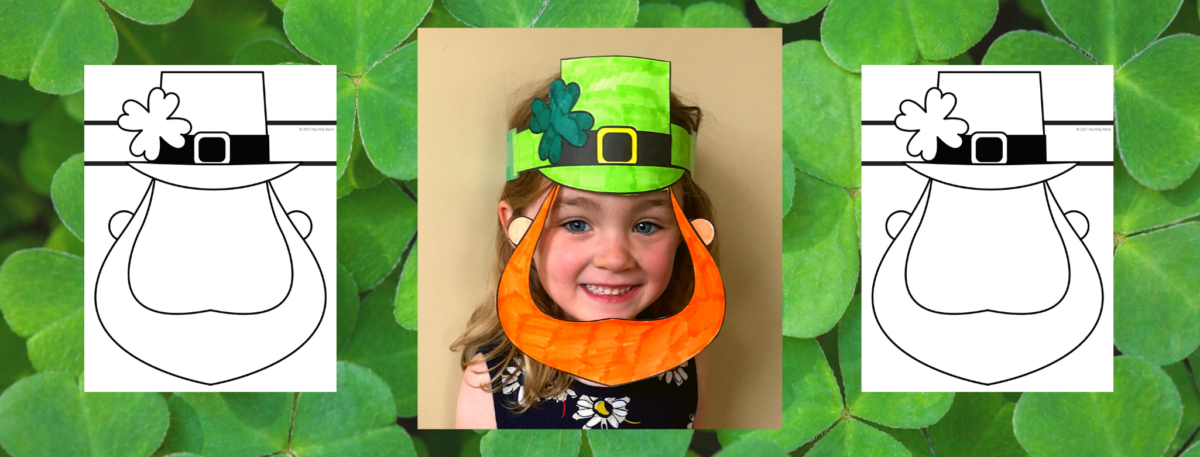 preview of leprechaun mask st. patrick's day craft for kids
