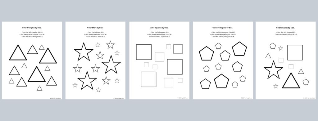 big and small worksheets preview