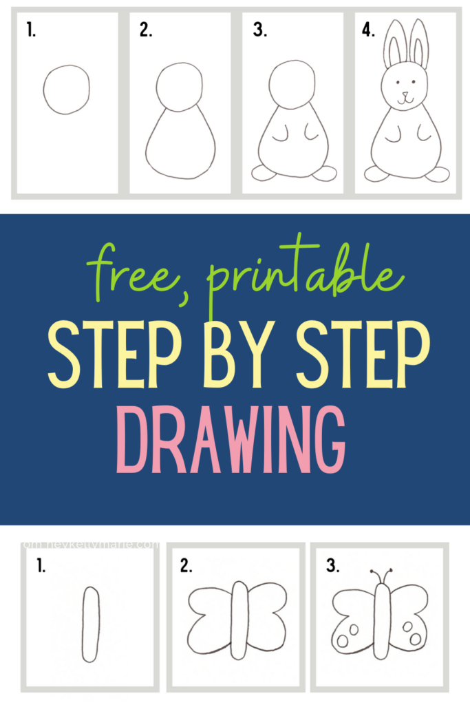 pinterest pin step by step drawing worksheet bundle for kids