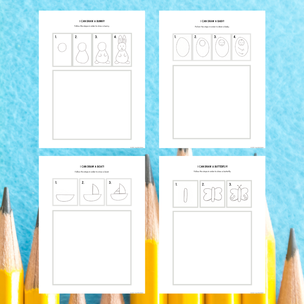preview image of 4 i can draw activities for kids