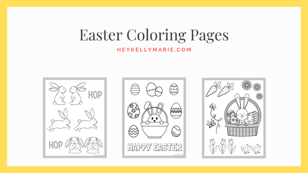 click here to instantly download the easter coloring pages
