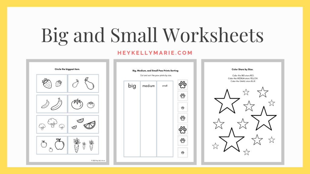 big and small worksheets click here to download