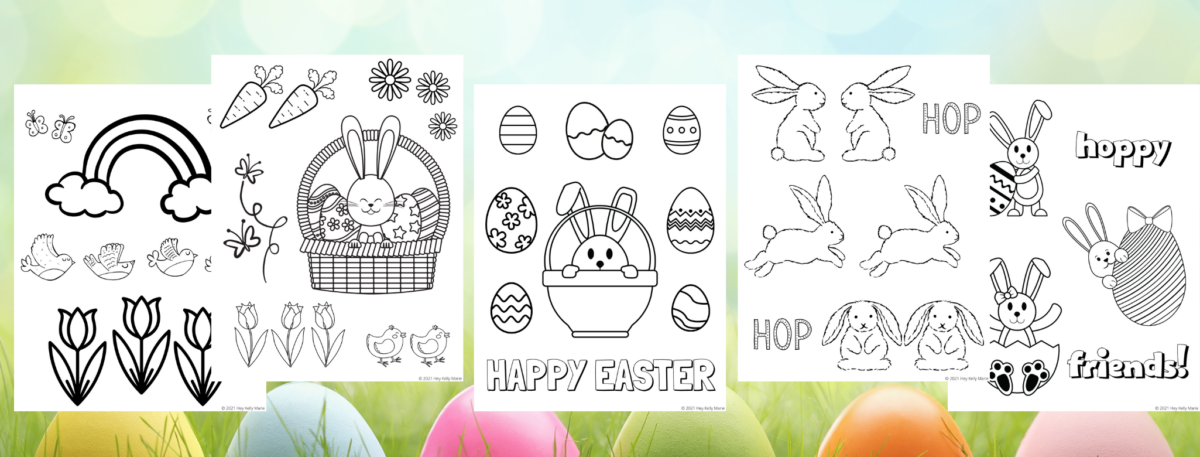 easter preview coloring pages