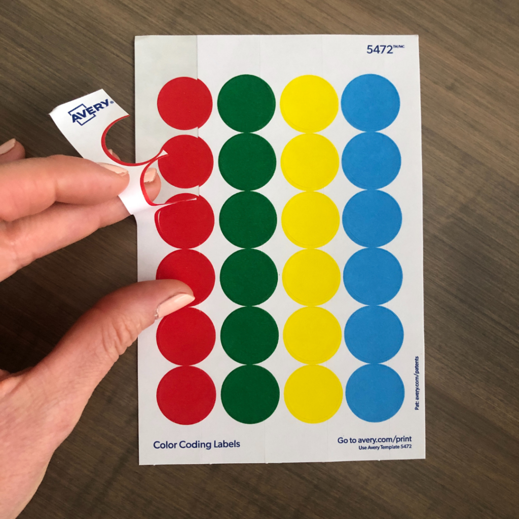 Removing the white backing makes it easier for kids to peel the dot stickers off themselves.