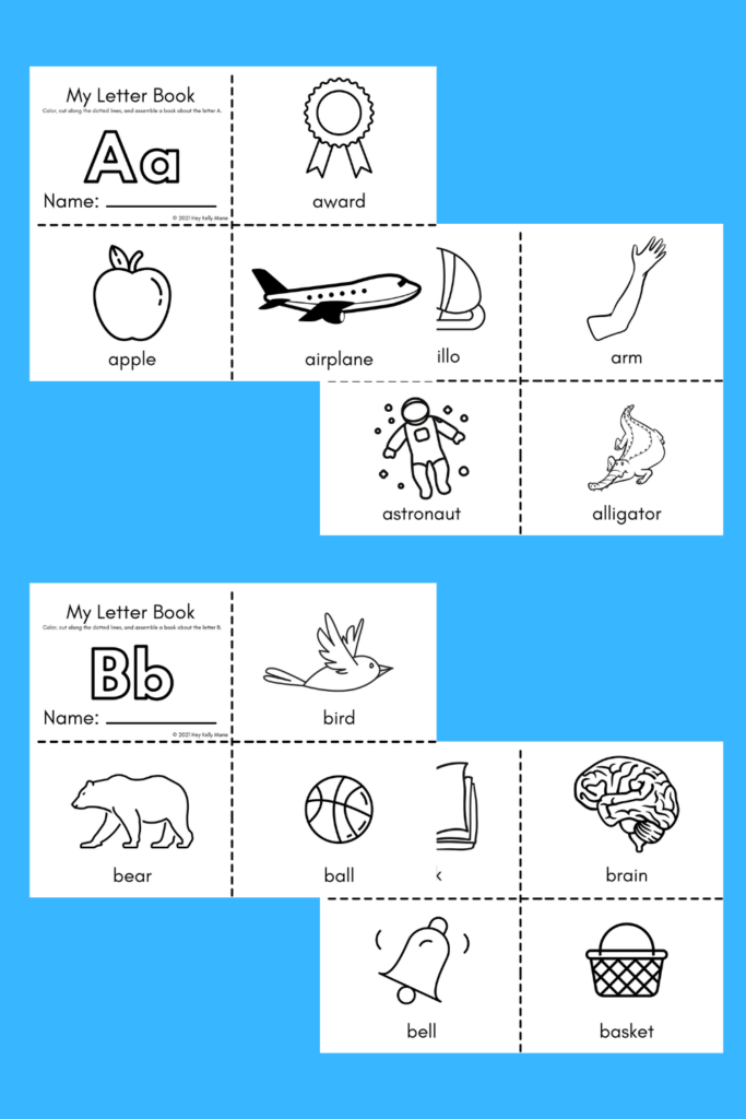 preview of letter a and b books for kids