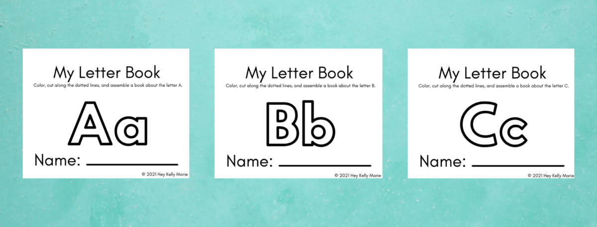 preview of my letter books for kids