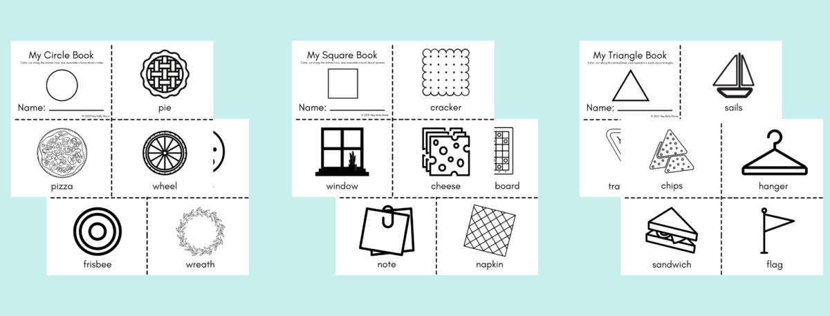 preview of my shapes books to teach kids about shapes