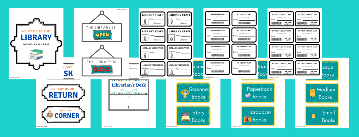 preview of library dramatic page printables