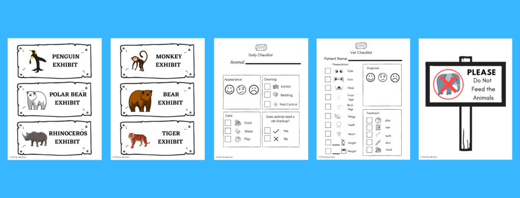exhibit printables for dramatic play