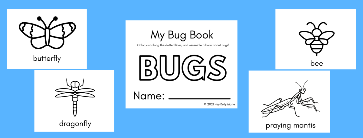 preview of free printable bug book for kids
