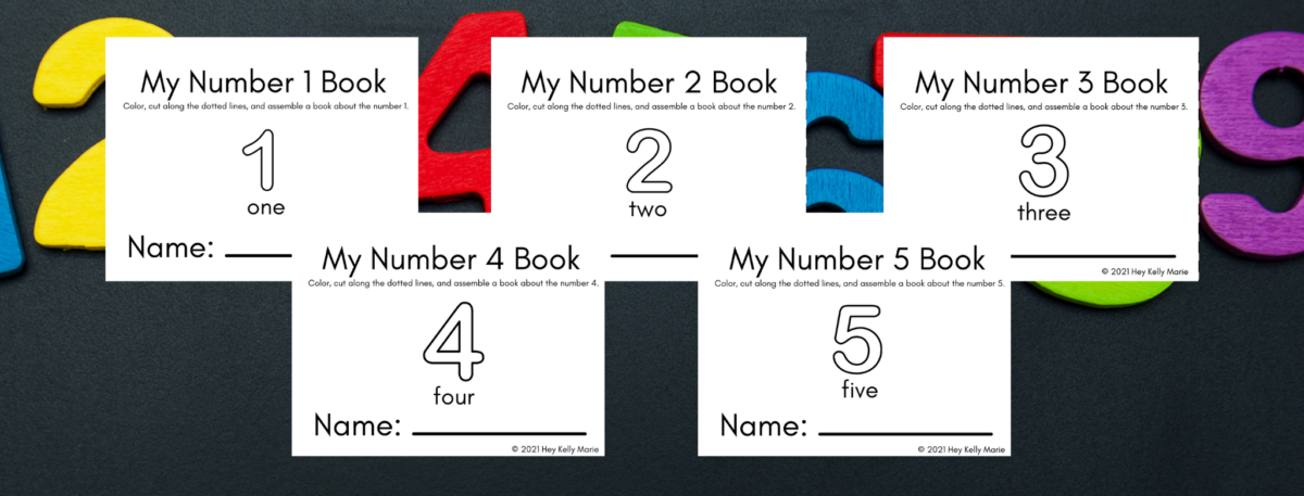 preview of number books for kids